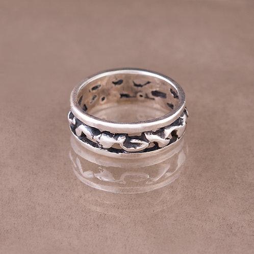 Carlos Diaz Sterling Nugget Ring RG-0120
