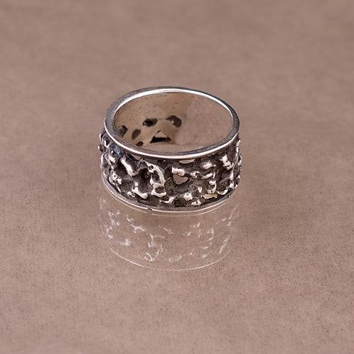 Carlos Diaz Sterling Nugget Ring RG-0118