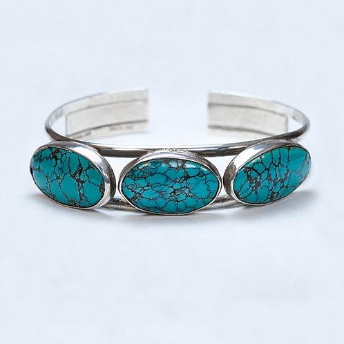 Carlos Diaz Sterling Turquoise Bracelet BR-0183