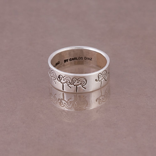 Carlos Diaz Sterling Stamped Ring RG-0062