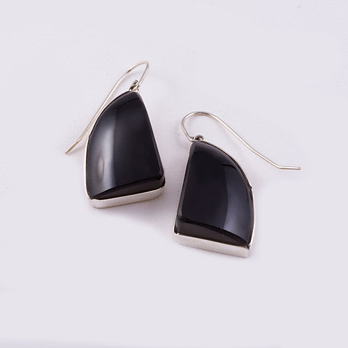 Ron Henry Sterling Onyx Earrings ER-0060