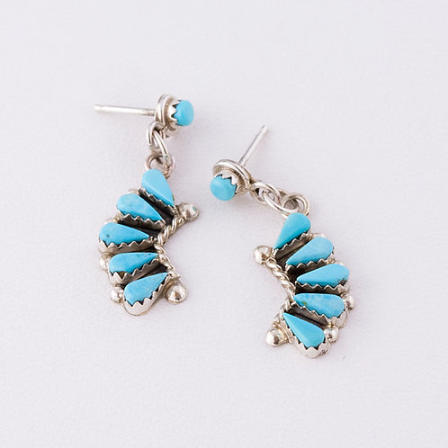 Zuni Sterling Dangle Earrings ER-0104