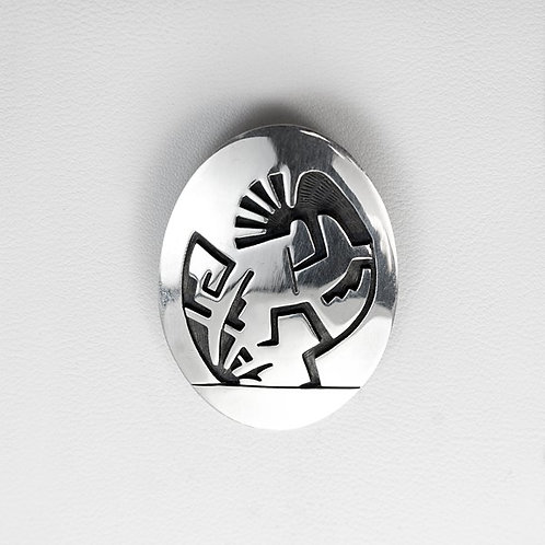 Hopi Kokopelli Sterling Pin/Pendant PE-0152