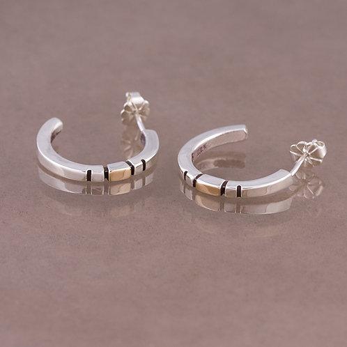 Ron Henry Sterling and 14k  Earrings ER-0242
