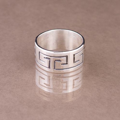 SOLD Carlos Diaz Sterling Stamped Ring RG-0112