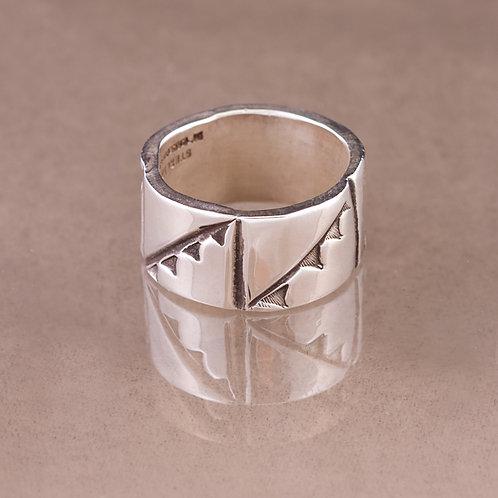 Carlos Diaz Sterling  Stamped Ring RG-0115