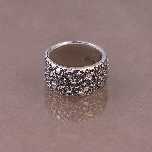 Carlos Diaz Sterling Tree Bark Ring RG-0075
