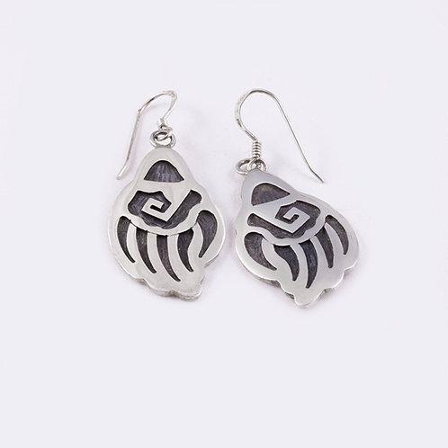 Hopi Sterling Badger Paw Earrings ER-0021