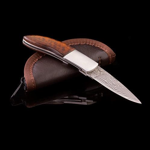 Custom Damascus Folding Knife JWK-0005