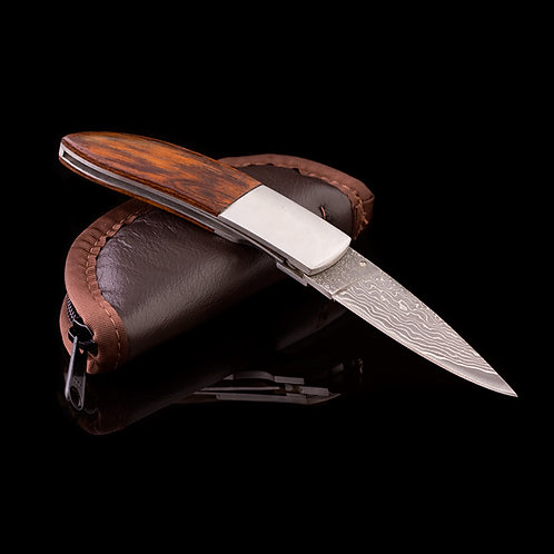 Custom Damascus Folding Knife JWK-0004