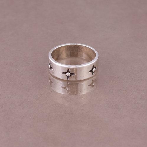 Carlos Diaz Sterling Stamped Ring RG-0084