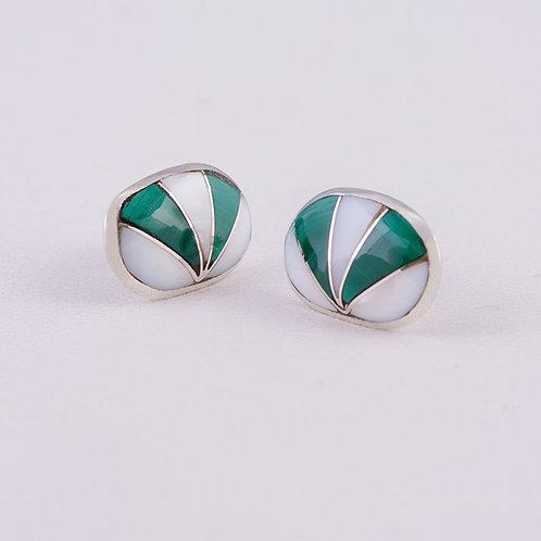 Zuni Sterling Inlay Earrings ER-0256