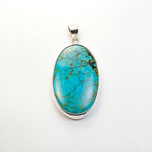 Carlos Diaz Sterling Turquoise Pendant PE-0181