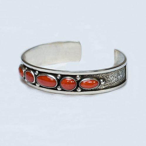 Carlos Diaz Sterling Coral Bracelet BR-0220