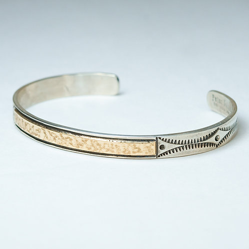 Peter Nelson Sterling and 14k Bracelet BR-0011
