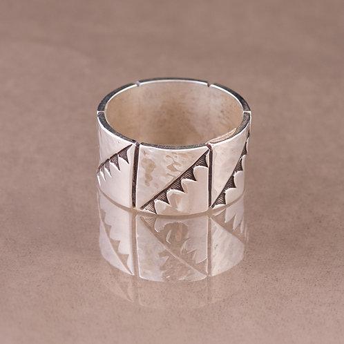 Carlos Diaz Sterling  Stamped Ring RG-0114