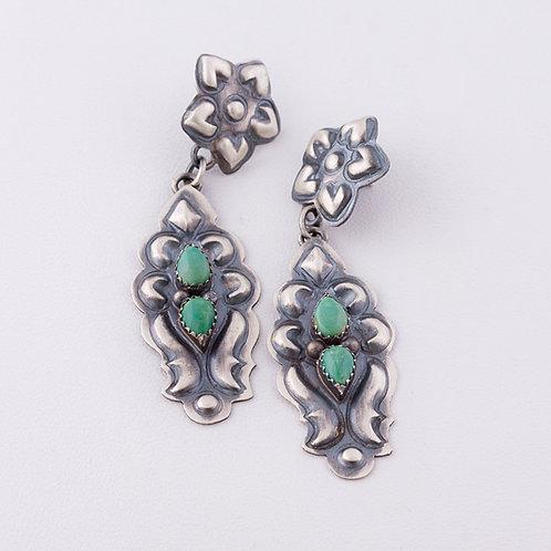 Sterling Navajo Turquoise Earrings ER-0112