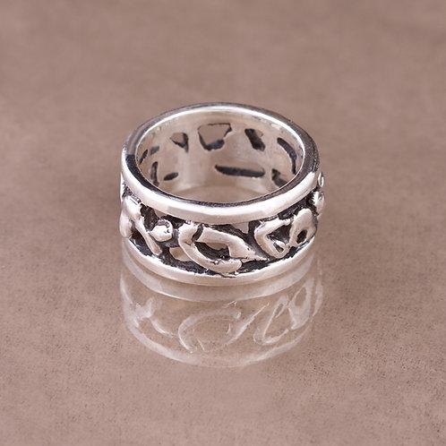 Carlos Diaz Sterling Nugget Ring RG-0121
