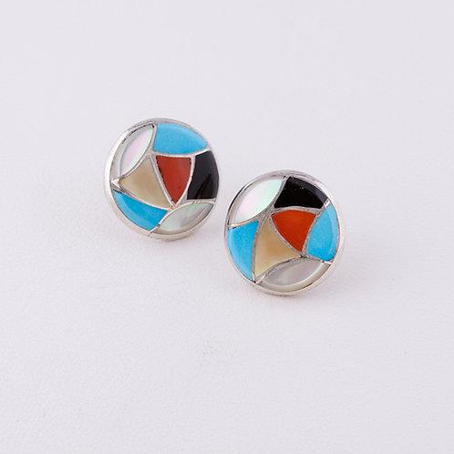 Zuni multi inlay earrings ER-0137