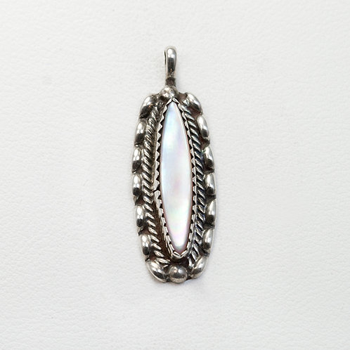 Zuni Sterling Mother of Pearl Pendant PE-0021