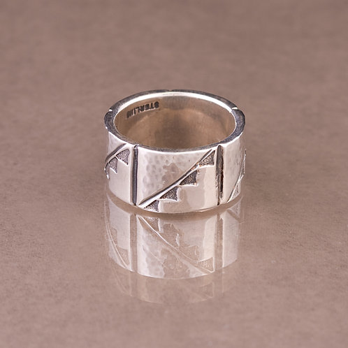 Carlos Diaz Sterling  Stamped Ring RG-0113