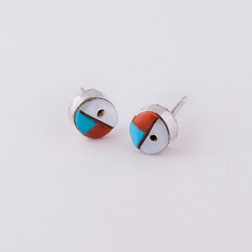 Zuni Inlay Earrings ER-0186