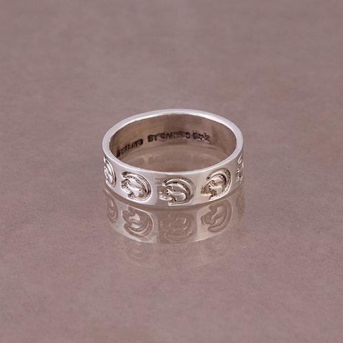 Carlos Diaz Sterling Stamped  Ring RG-0060