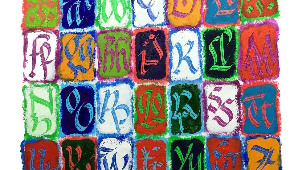 Alphabet Blocks (3) by Eleanor Winters