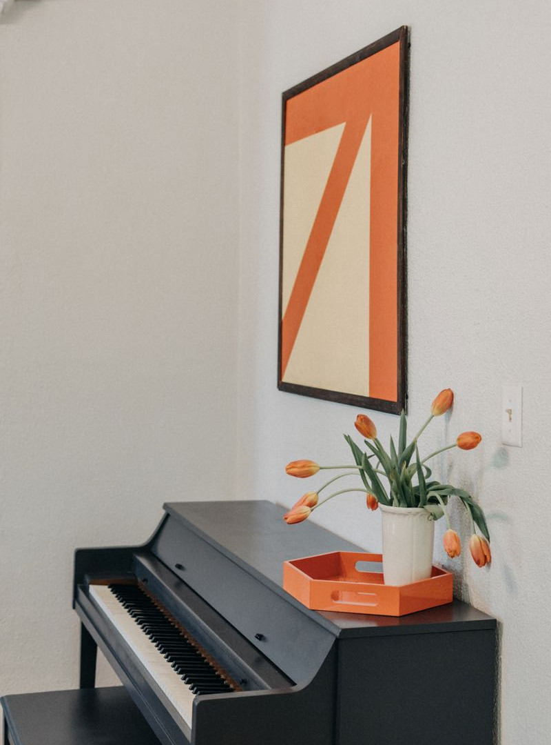 Piano in Dining Room