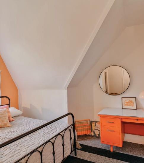 Peach Bedroom Queen Bed