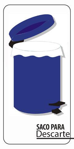Saco plástico leitoso em PEBD