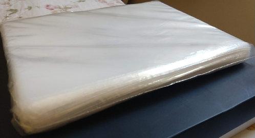 Saco Plástico cristal em PEBD liso (Peso do pacote 1KG)