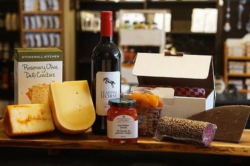 Smagekasse - vin, ost og tilbehør