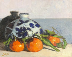 Clementines and Vase