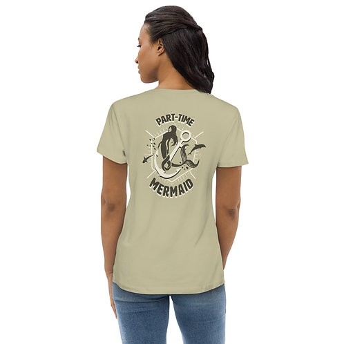 PART-TIME MERMAID Women's fitted eco tee