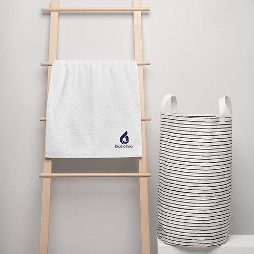 LOGO Turkish cotton towel WHITE