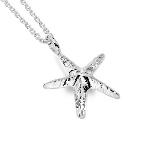 Ocean Sterling Silver Starfish Pendant