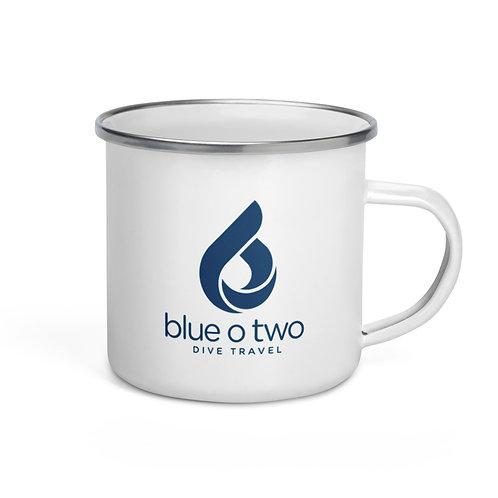 NEW LOGO Enamel Mug WHITE