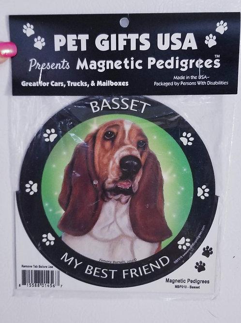 """Basset Hound Magnet 3.5"""""""