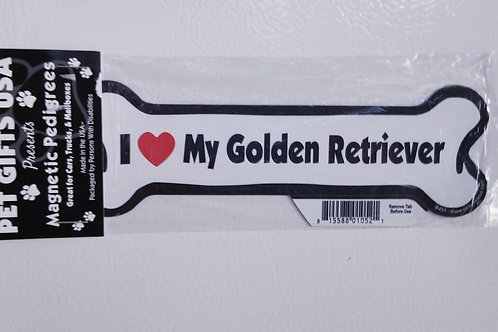 I love my Golden Retriever Magnet