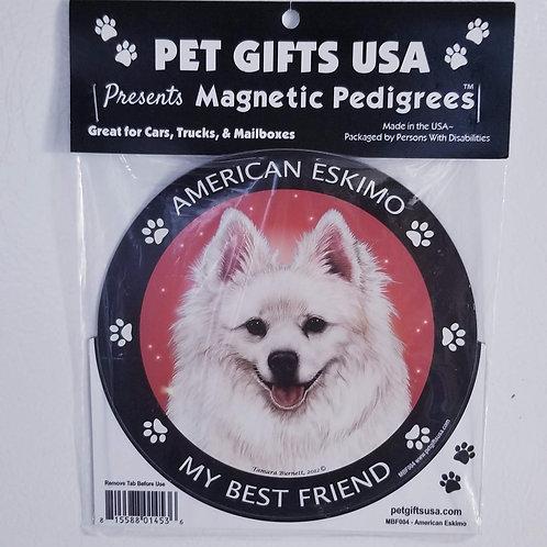 "American Eskimo magnet 3.5"""