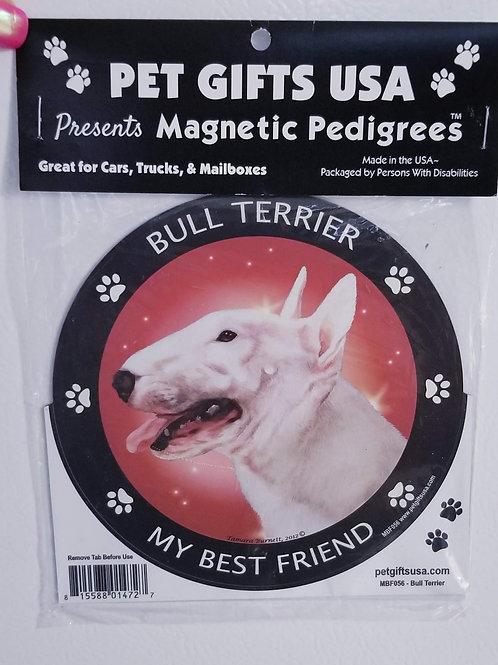 """Bull Terrier Magnet 3.5"""""""