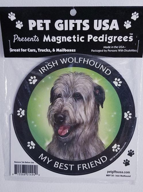 """Irish Wolfhound Magnet 3.5"""""""