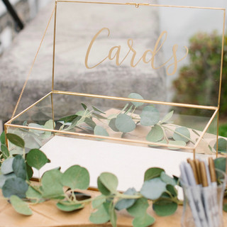 Gold + Glass Cards Box $35.00