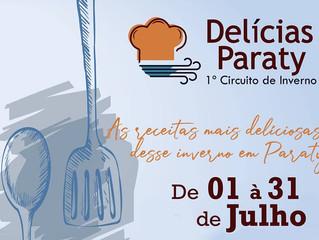No mês de julho, as receitas mais deliciosas desse inverno estarão em Paraty/RJ