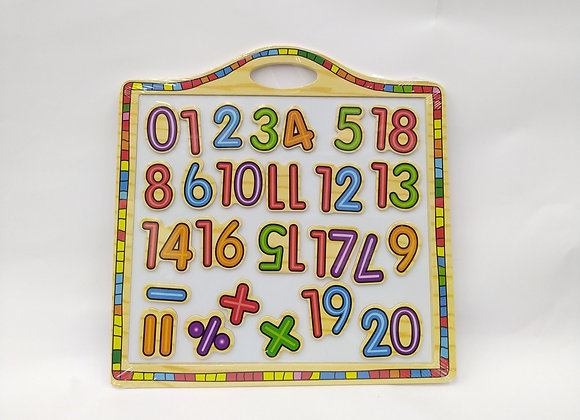 לוח מגנטי מספרים