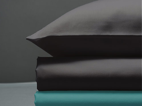Παπλωματοθήκη Dark Grey / Turquoise