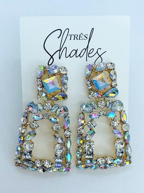 Crystal Slanted Square Earrings
