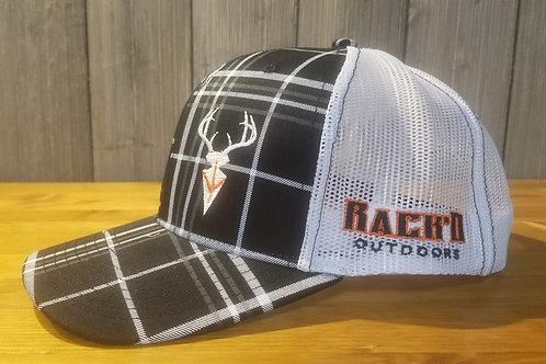 White/Black Plaid Richardson 112 SnapBack Trucker Cap