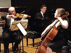 Violin, cello, piano, pianist, trio, group, ensemble